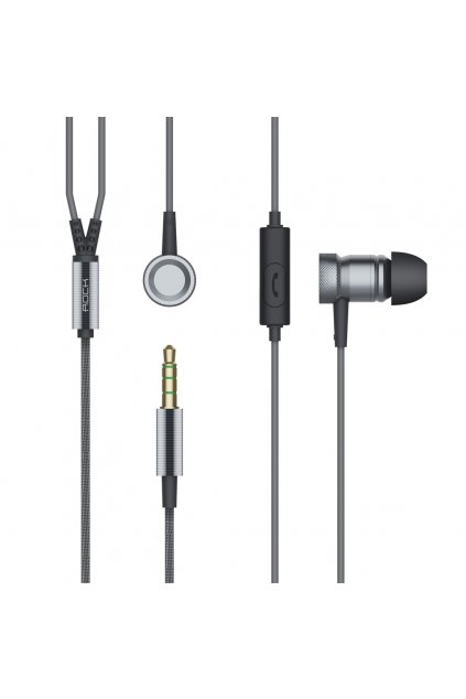 Sluchátka ROCK s headset, grey