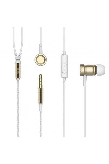 Sluchátka ROCK s headset, white
