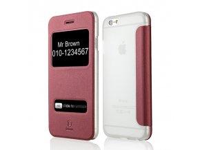 Apple iPhone 6/6S pouzdro Baseus Caller ID flip, red/červená