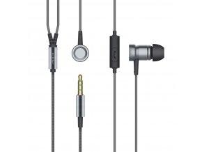 Sluchátka ROCK s ovládáním hlasitosti a mikrofonem, grey