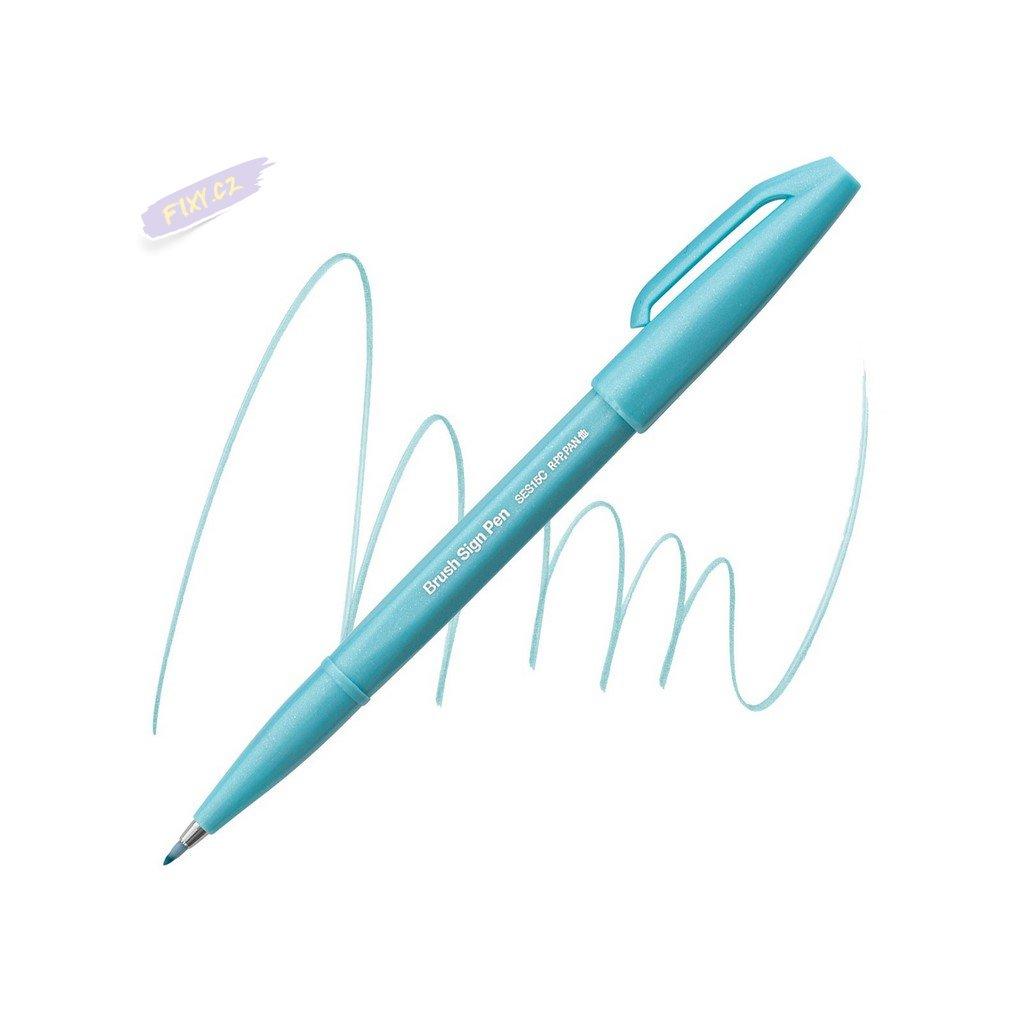 1008 4 pentel touch brush sign pen blede modry