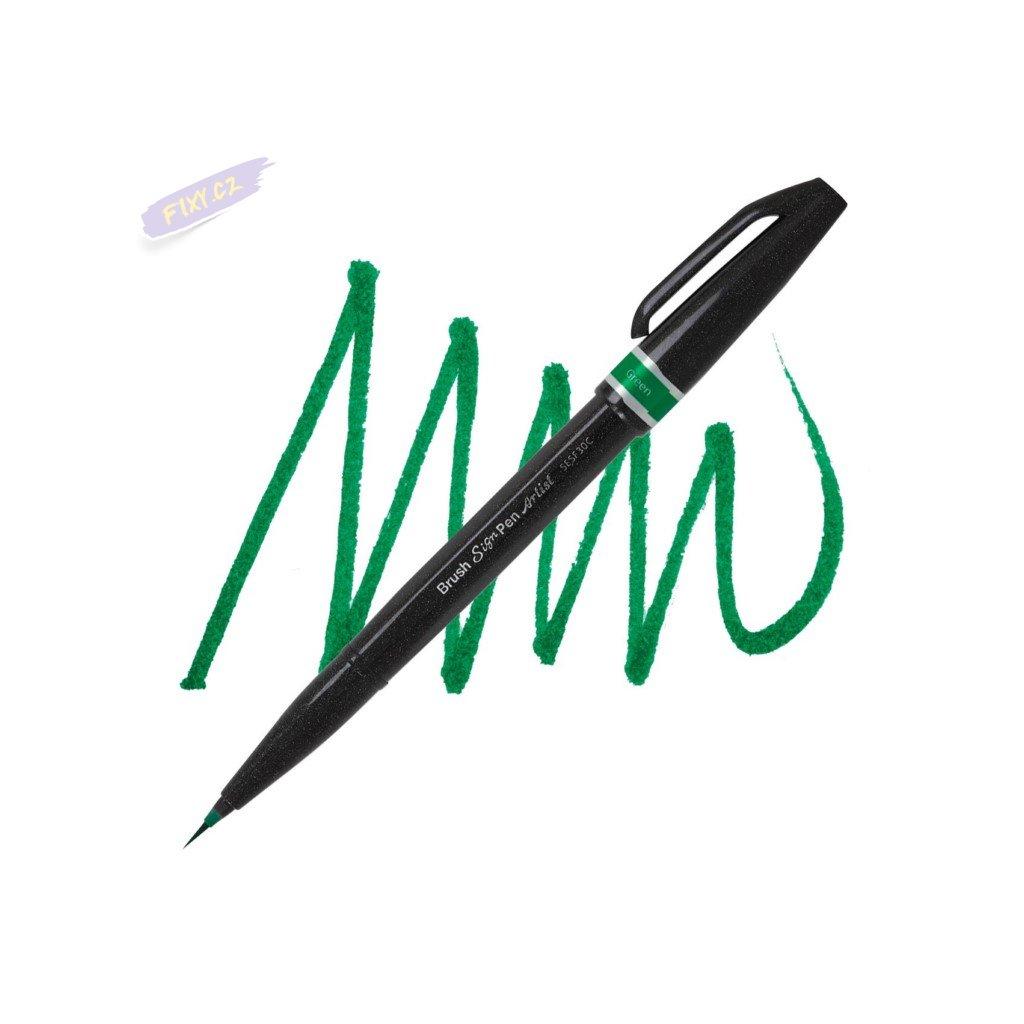 1059 5 pentel touch brush sign pen artist zeleny
