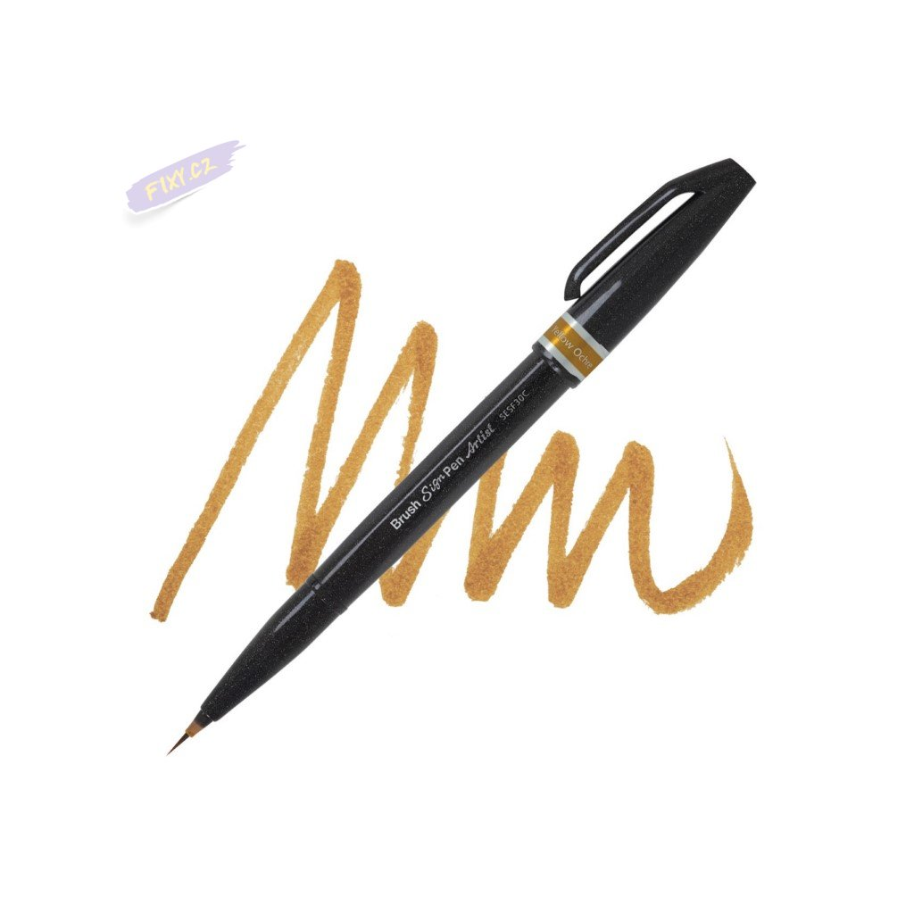 1062 5 pentel touch brush sign pen artist okrovy