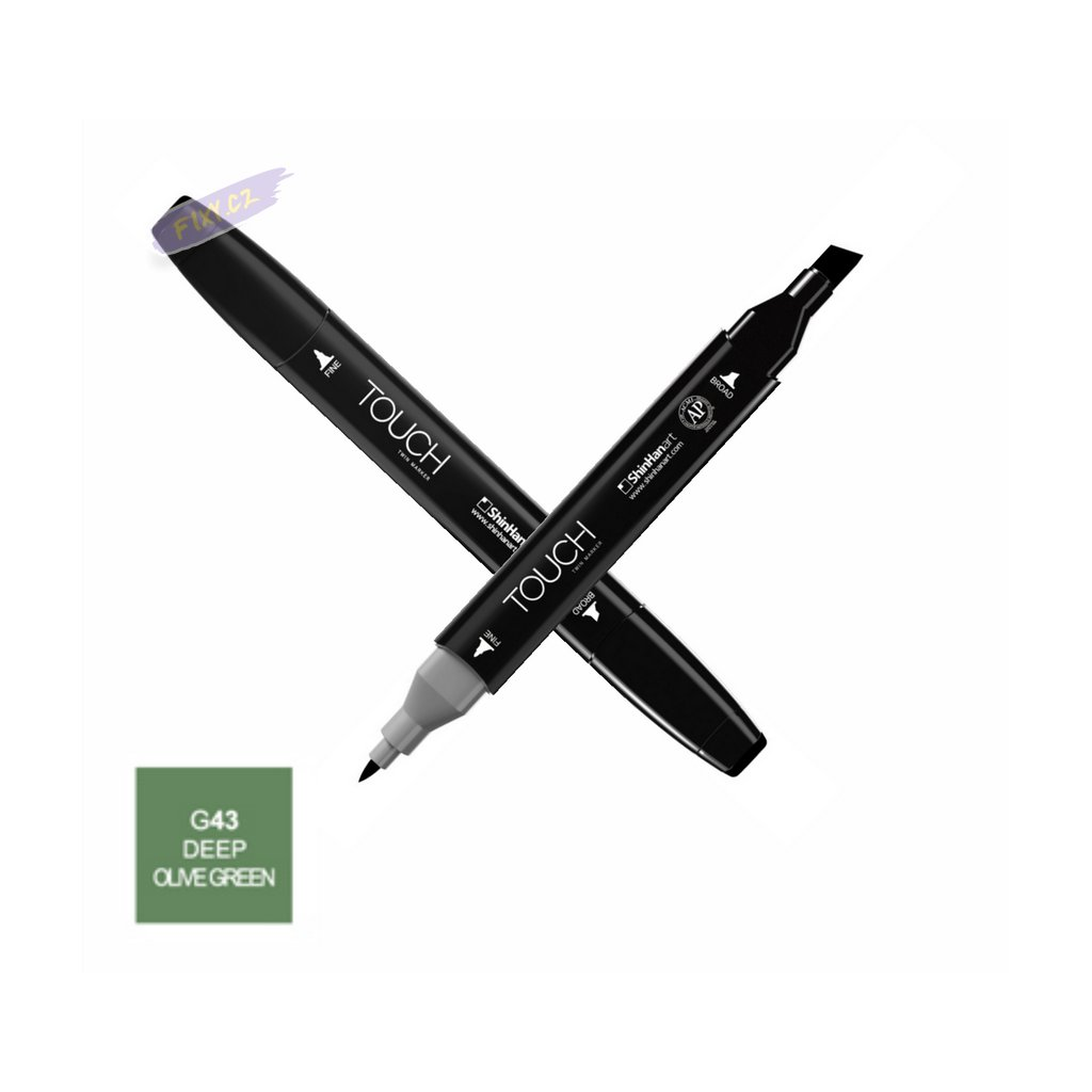 1416 1 g43 deep olive green touch twin marker