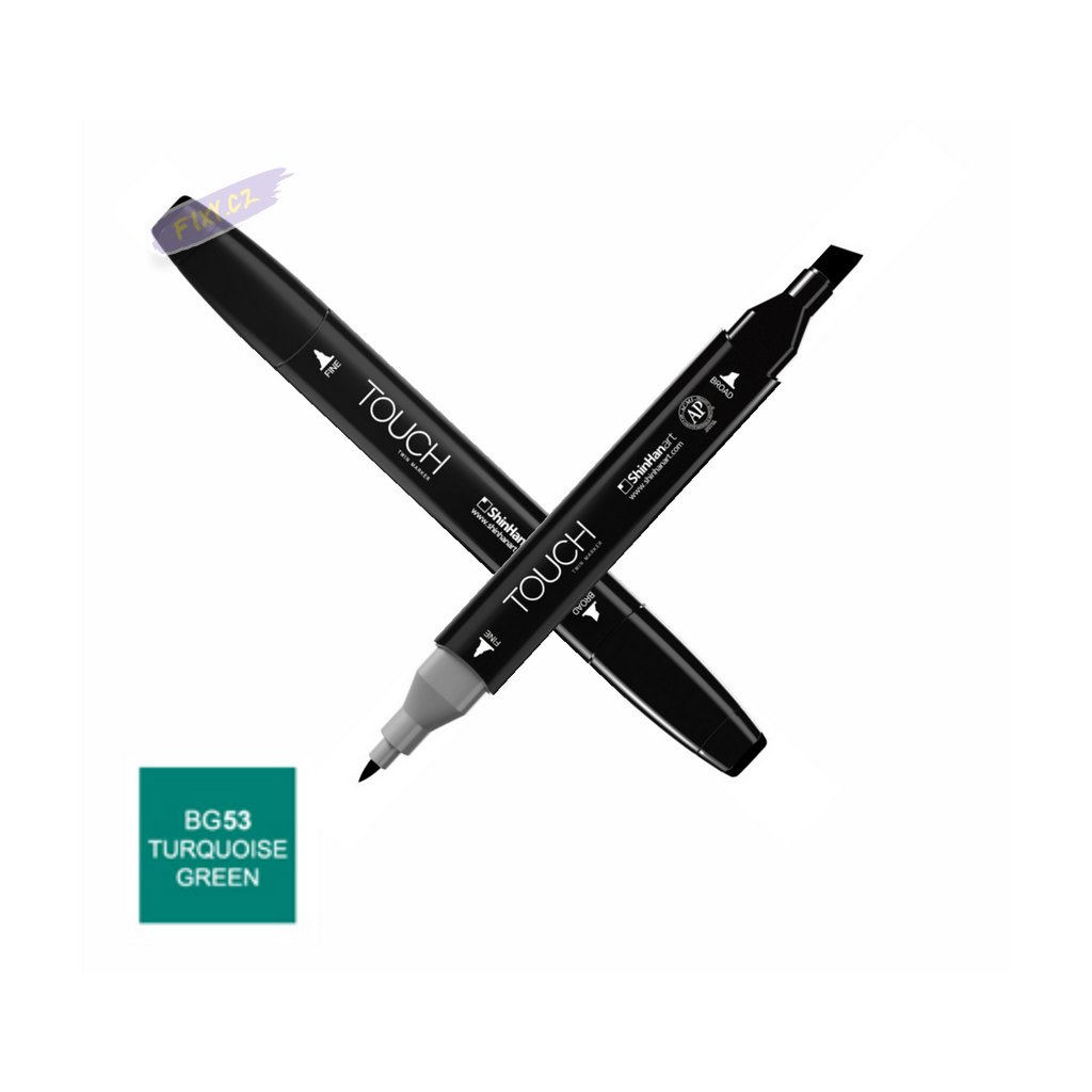 1446 1 bg53 turquoise green touch twin marker