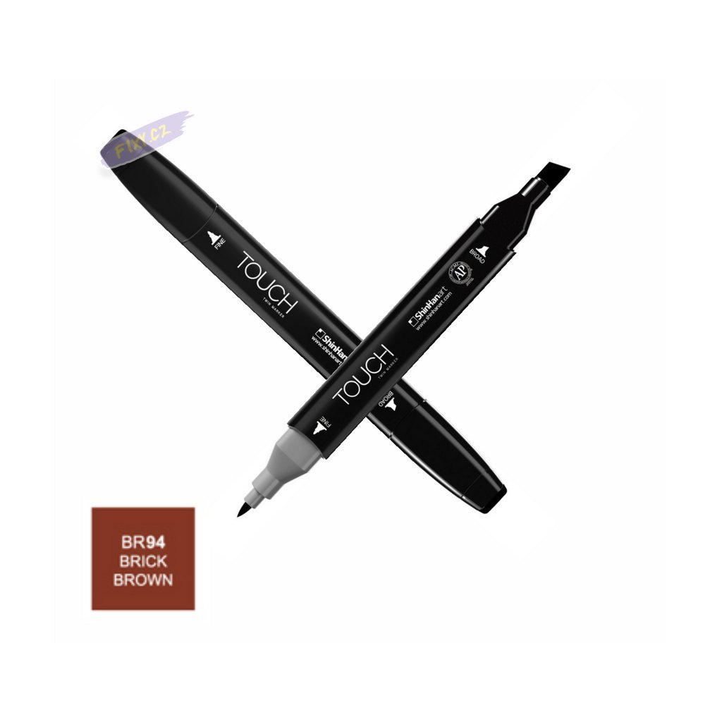 1554 1 br94 brick brown touch twin marker