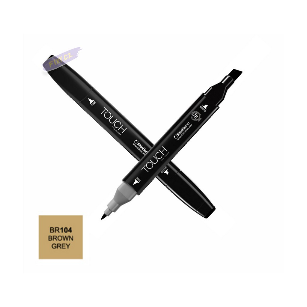 1584 1 br104 brown grey touch twin marker