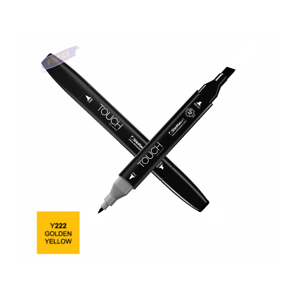 1737 1 y222 golden yellow touch twin marker