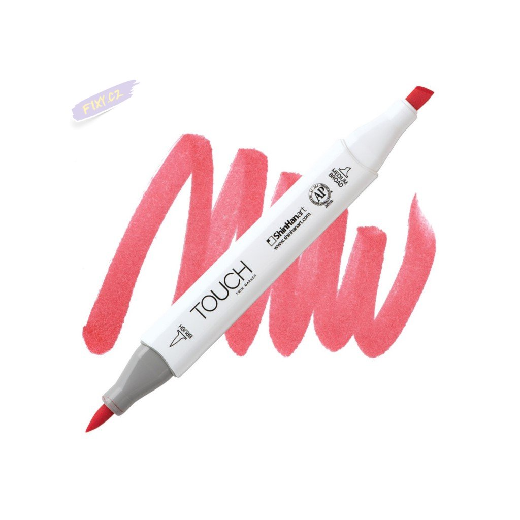 1950 2 r12 coral red touch twin brush marker