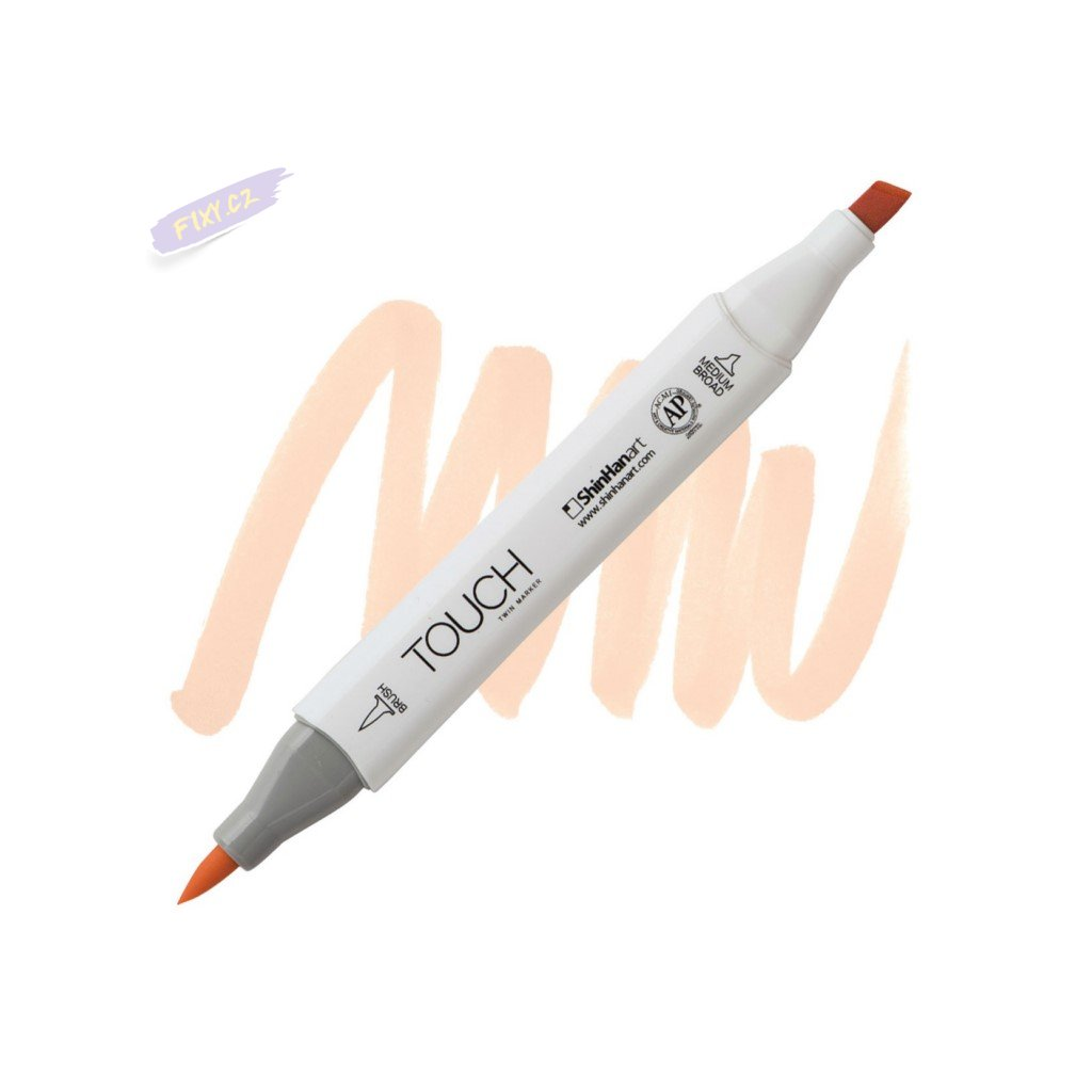 1983 2 yr25 salmon pink touch twin brush marker
