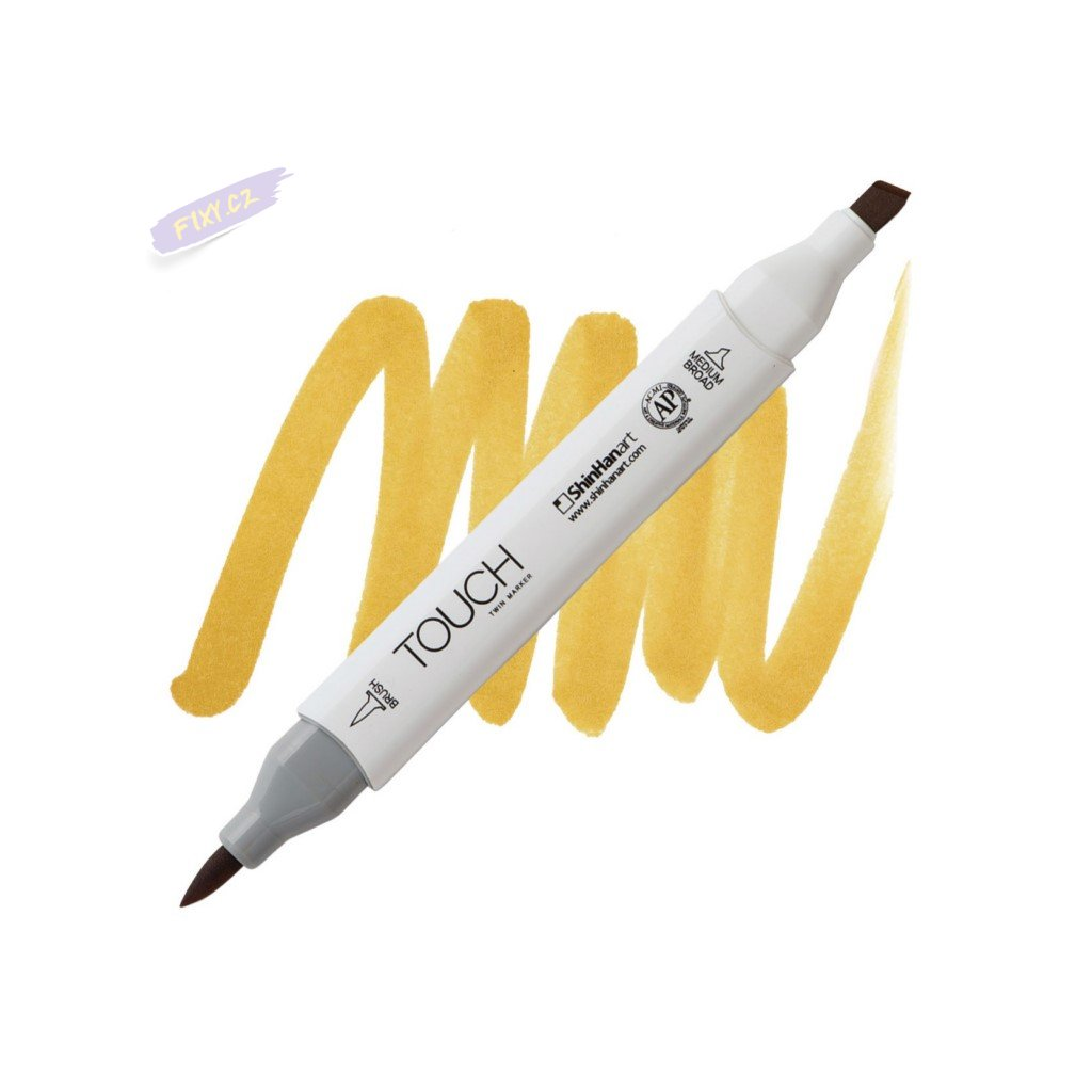 1998 2 yr31 dark yellow touch twin brush marker