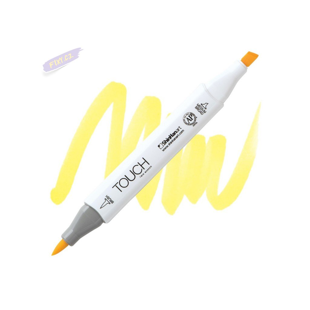 2019 2 y38 pale yellow touch twin brush marker