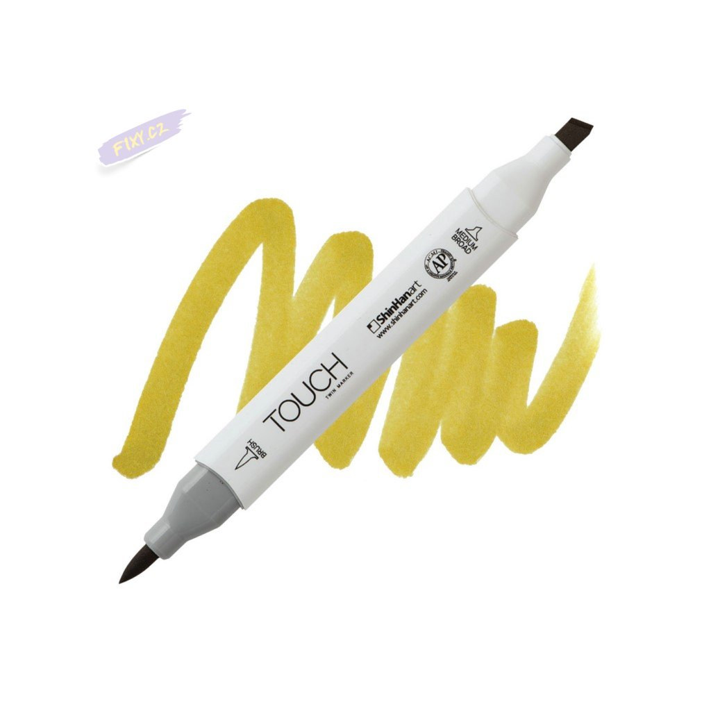 2022 2 y41 olive green touch twin brush marker