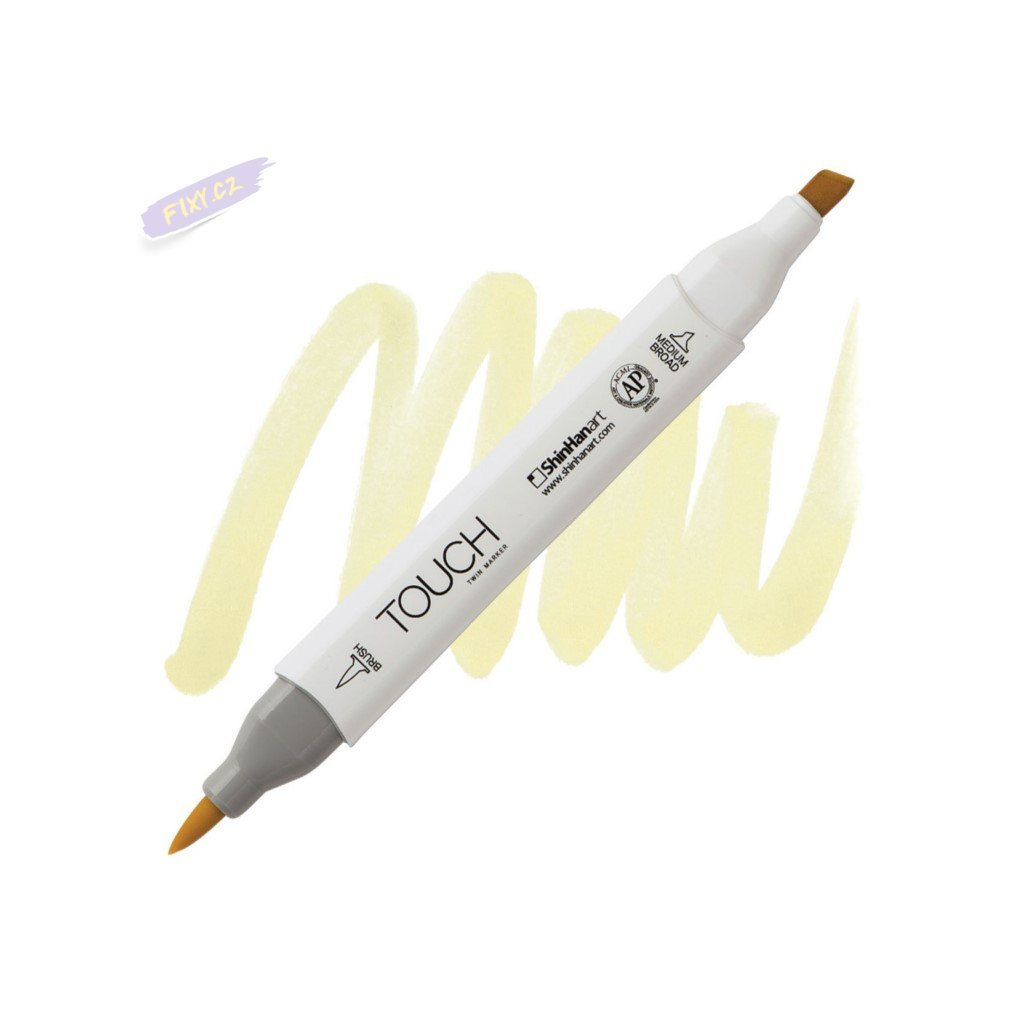 2046 2 y49 pastel green touch twin brush marker