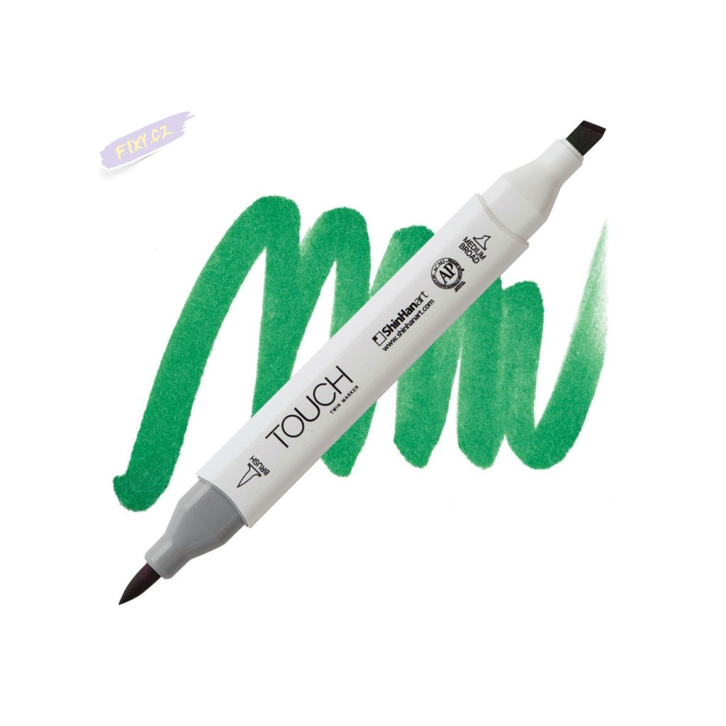 2064 2 g55 emerald green touch twin brush marker