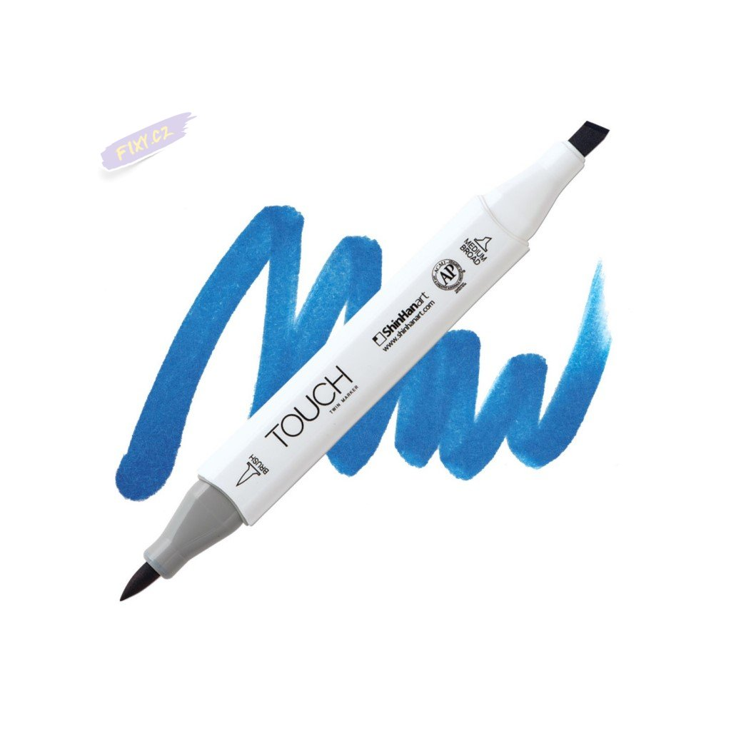 2106 2 pb70 royal blue touch twin brush marker