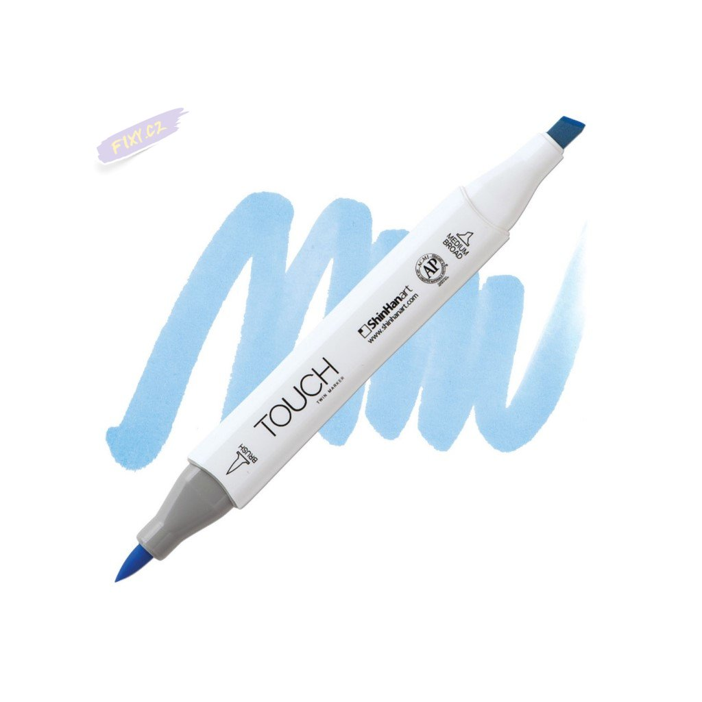 2124 2 pb76 sky blue touch twin brush marker