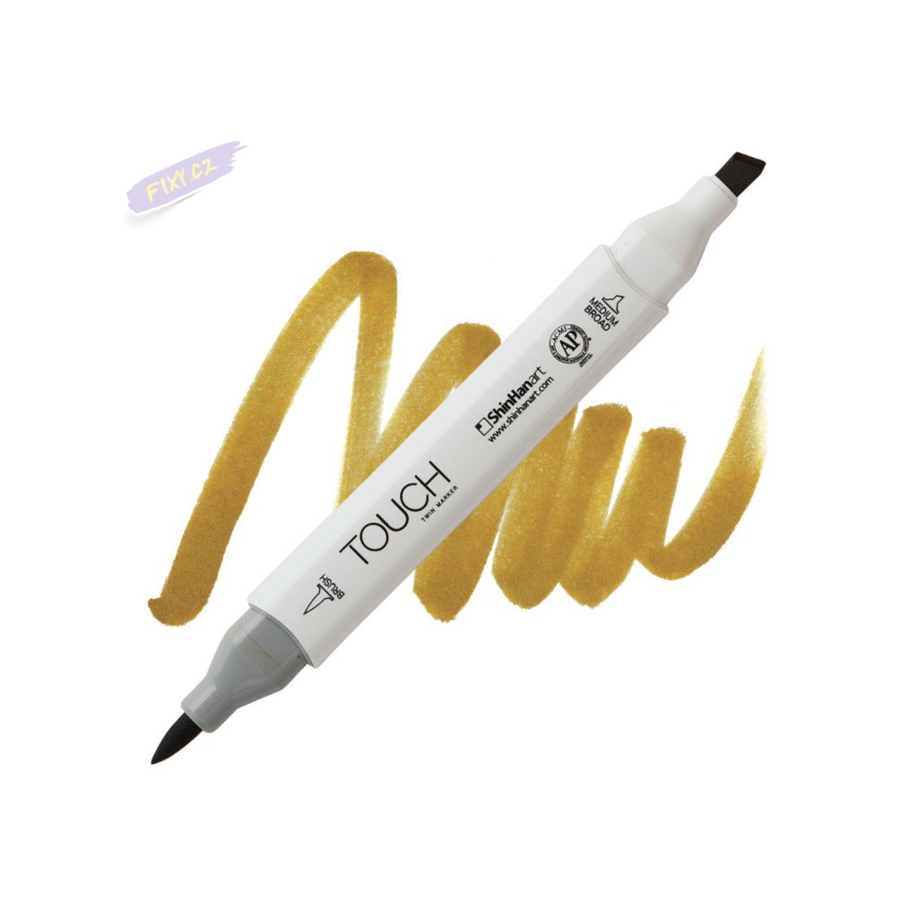2187 2 br101 yellow ochre touch twin brush marker