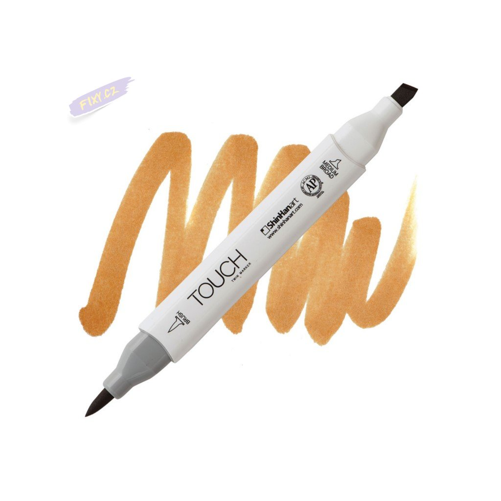 2193 2 br103 potato brown touch twin brush marker