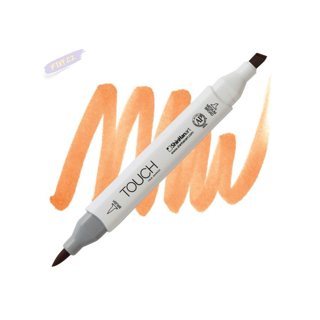2205 2 br111 brown touch twin brush marker