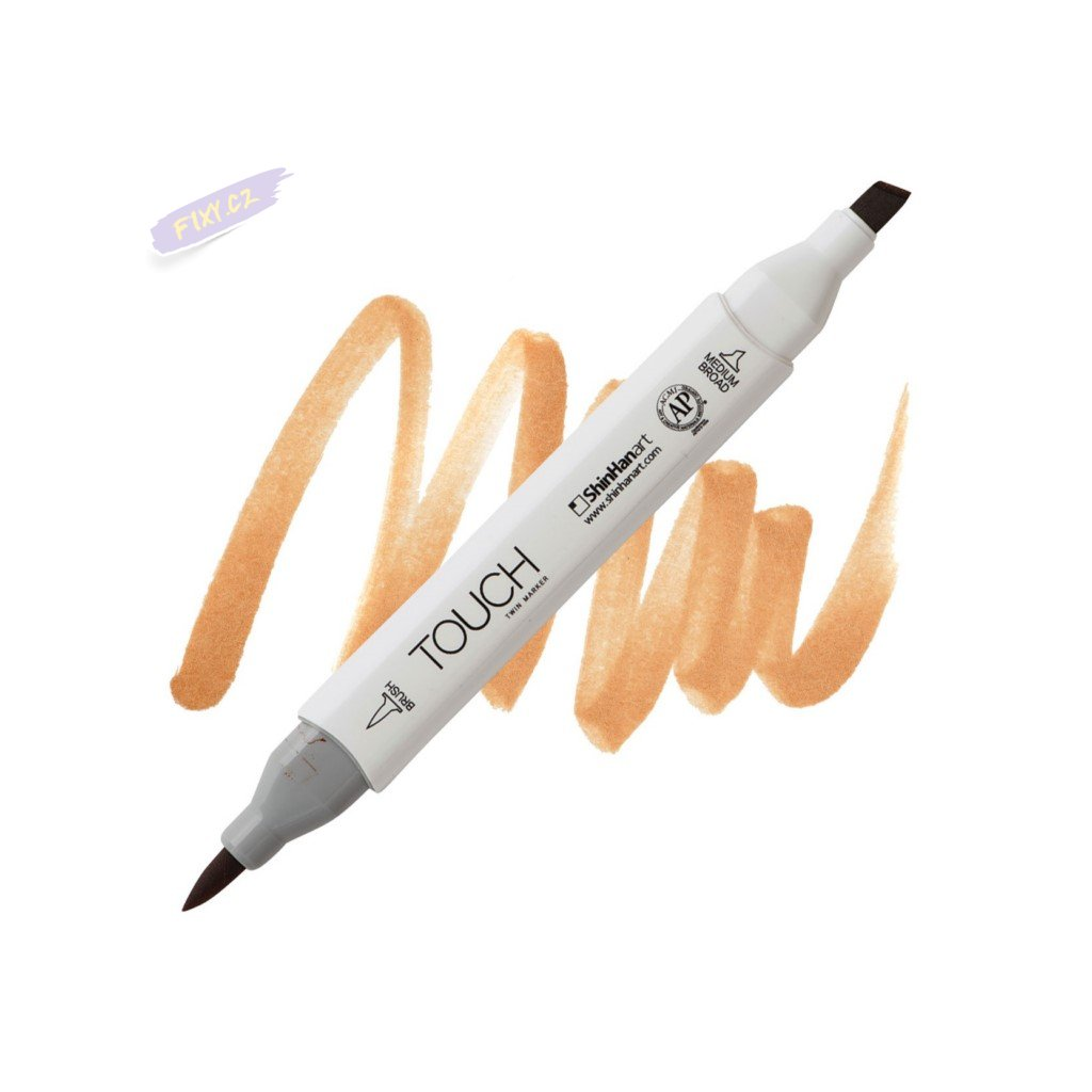 2208 2 br112 leather brown touch twin brush marker