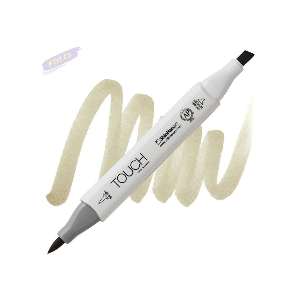 2217 2 br115 flax touch twin brush marker