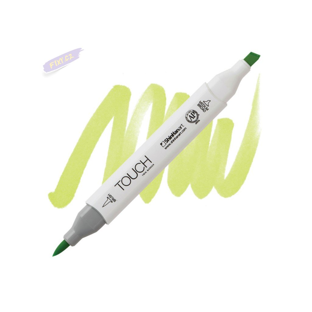2232 2 f124 fluorescent green touch twin brush marker