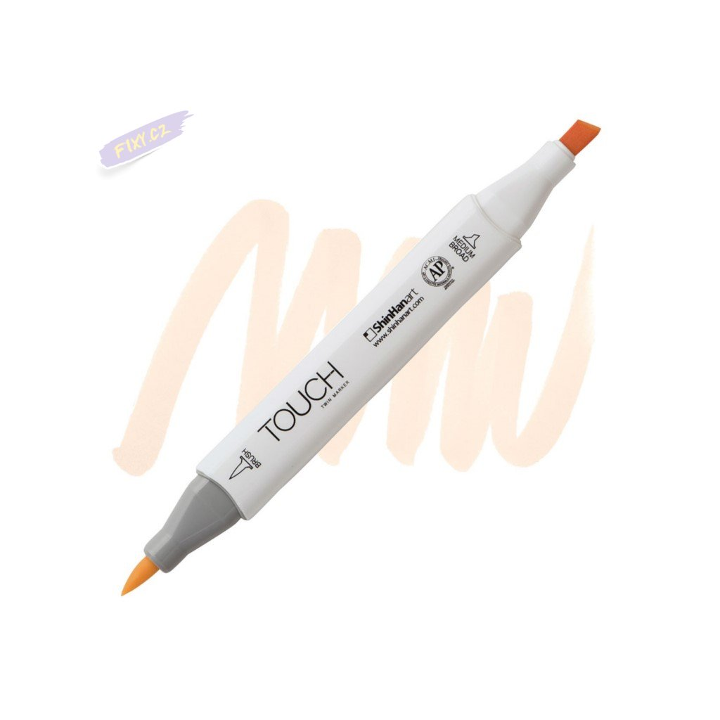 2244 2 yr132 milky white touch twin brush marker