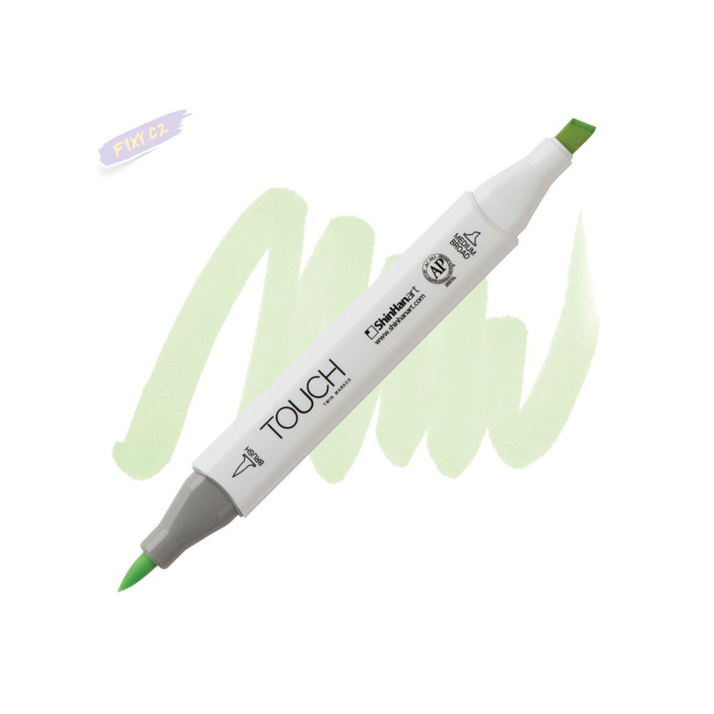 2313 2 gy173 dim green touch twin brush marker