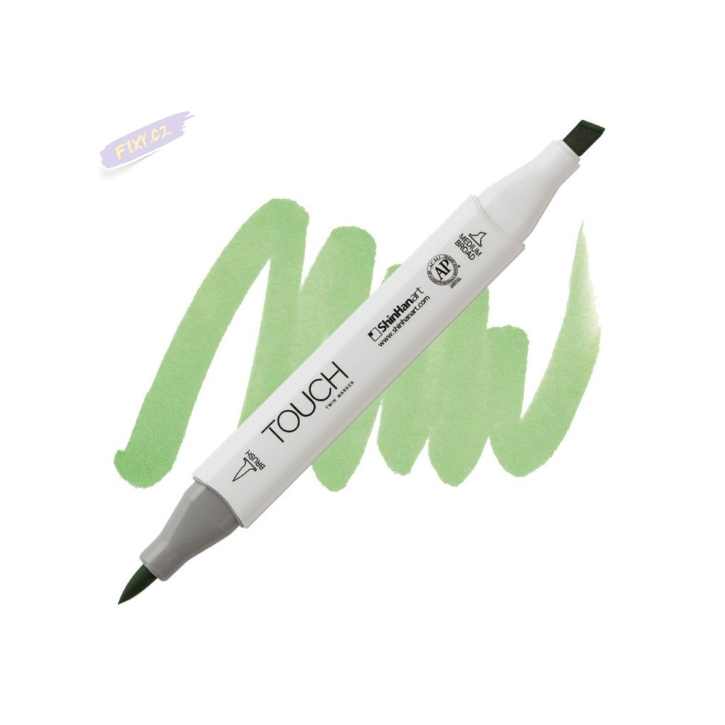 2319 2 gy175 lime green touch twin brush marker