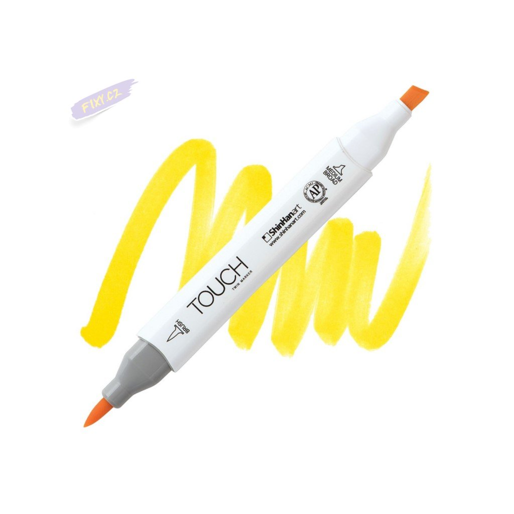 2346 2 y221 primary yellow touch twin brush marker