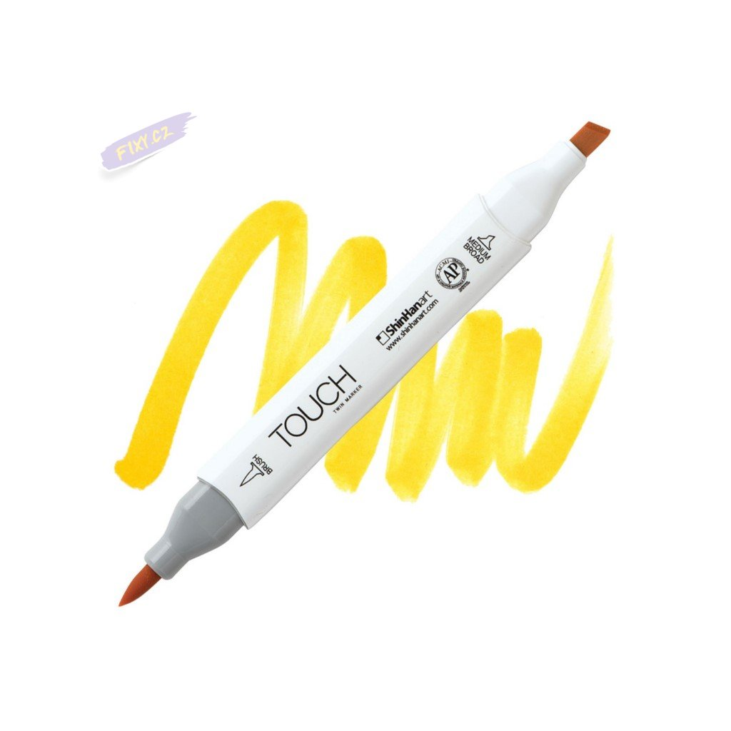 2349 2 y222 golden yellow touch twin brush marker