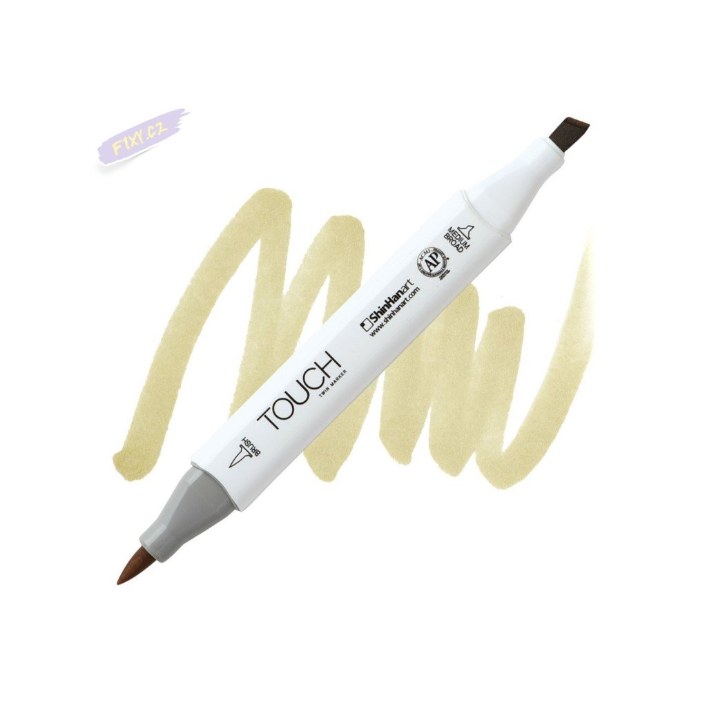 2352 2 y223 straw yellow touch twin brush marker