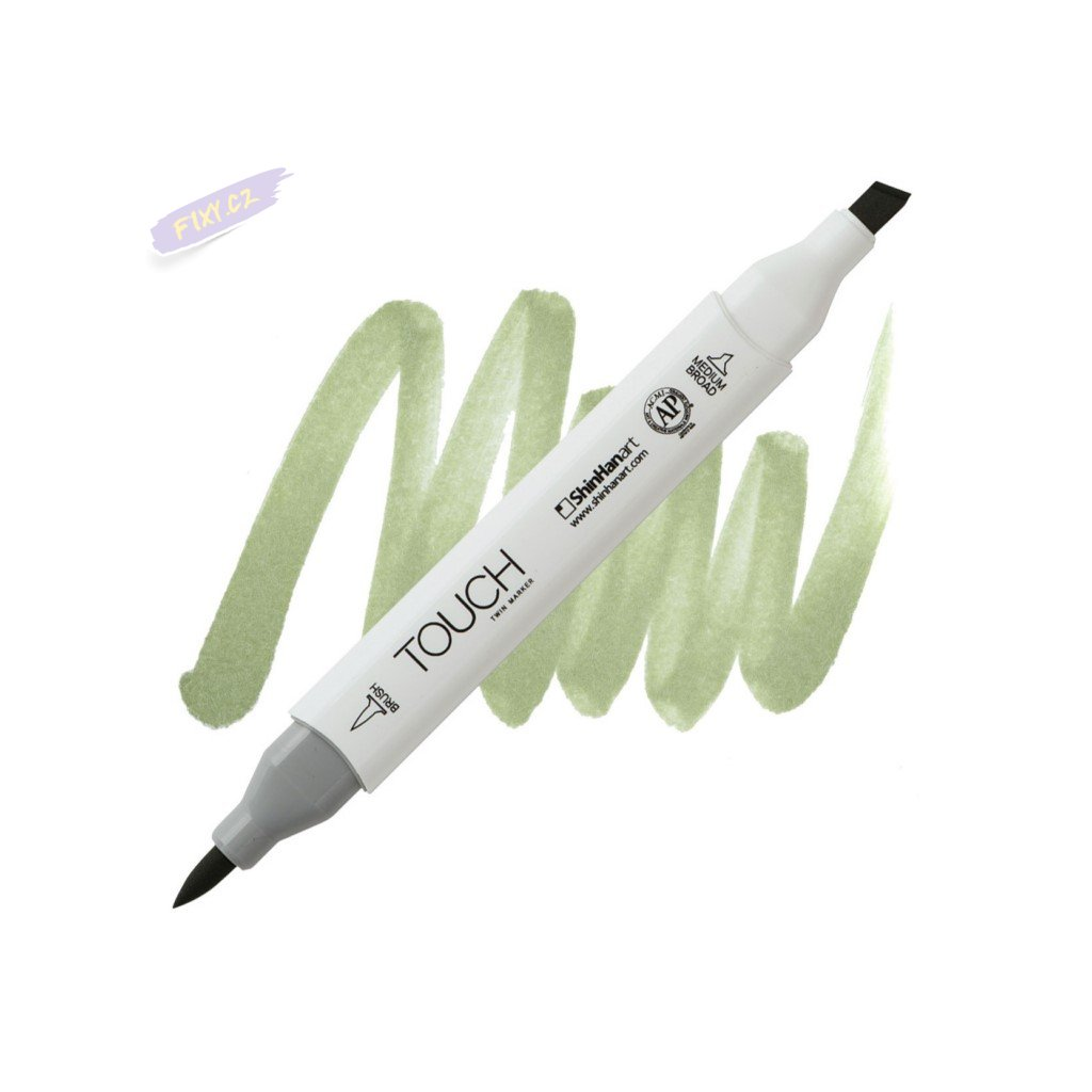 2367 2 gy233 grayish olive green touch twin brush marker