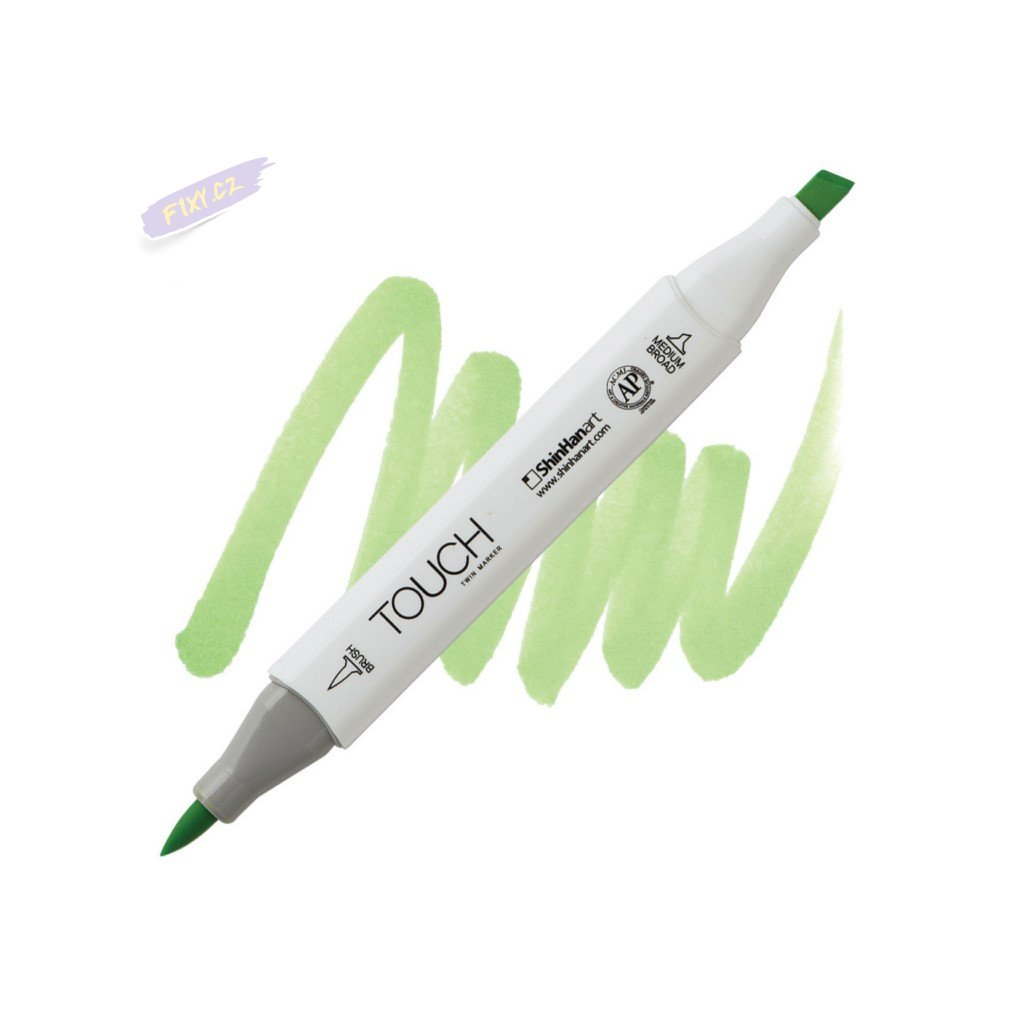 2376 2 gy236 spring green touch twin brush marker