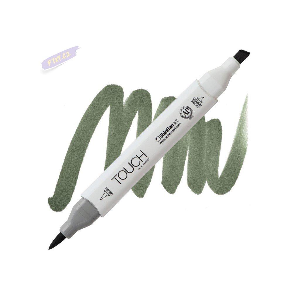 2382 2 g241 grayish green deep touch twin brush marker
