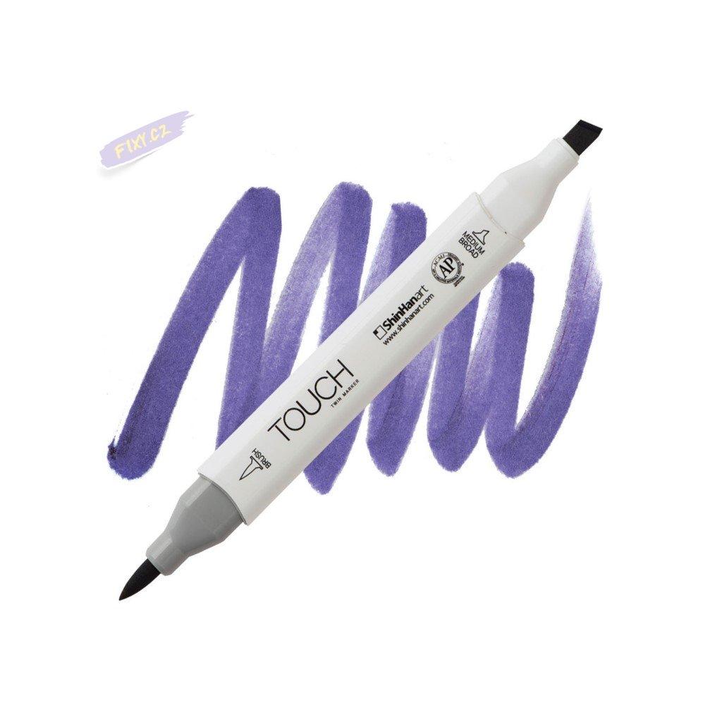 2412 2 pb274 violet dark touch twin brush marker