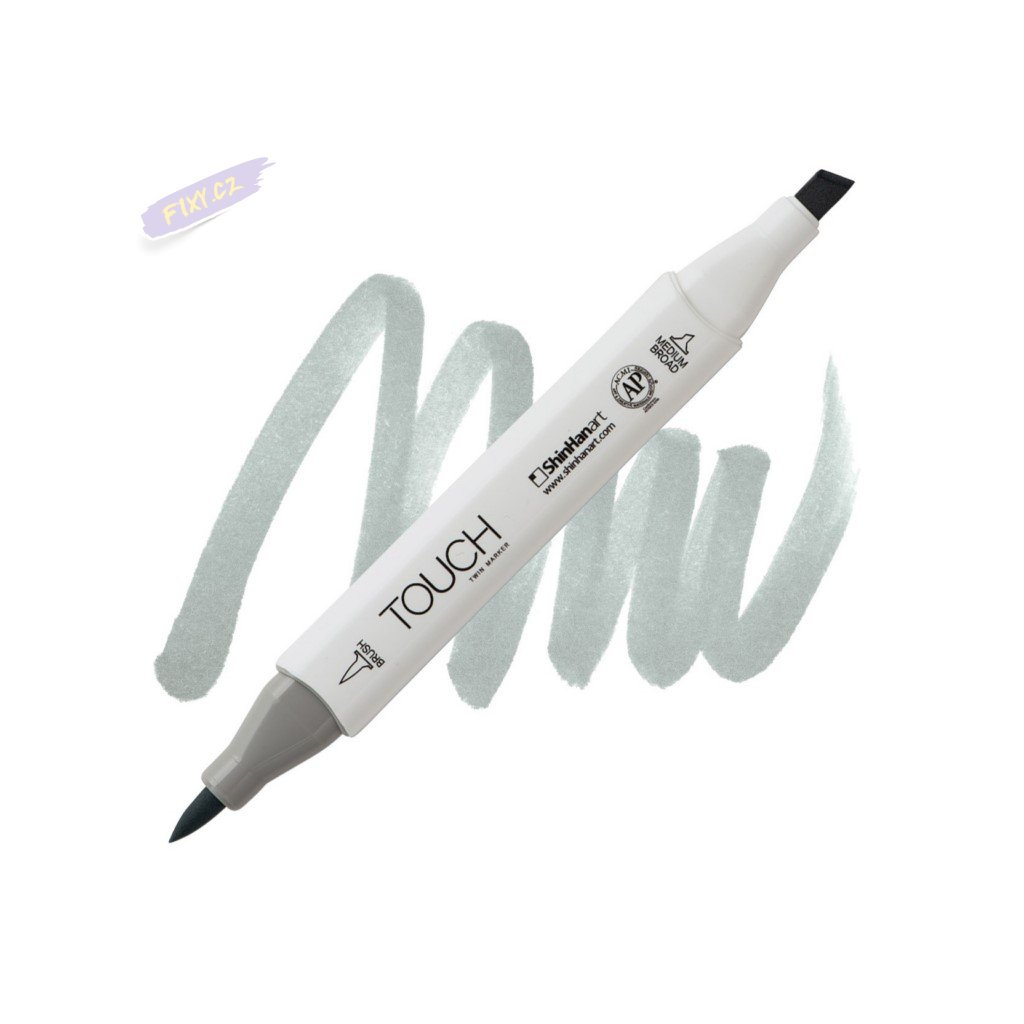 2451 2 gg3 green grey touch twin brush marker