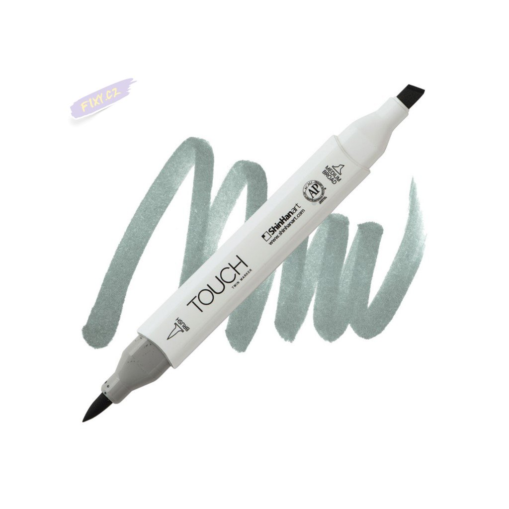 2454 2 gg5 green grey touch twin brush marker