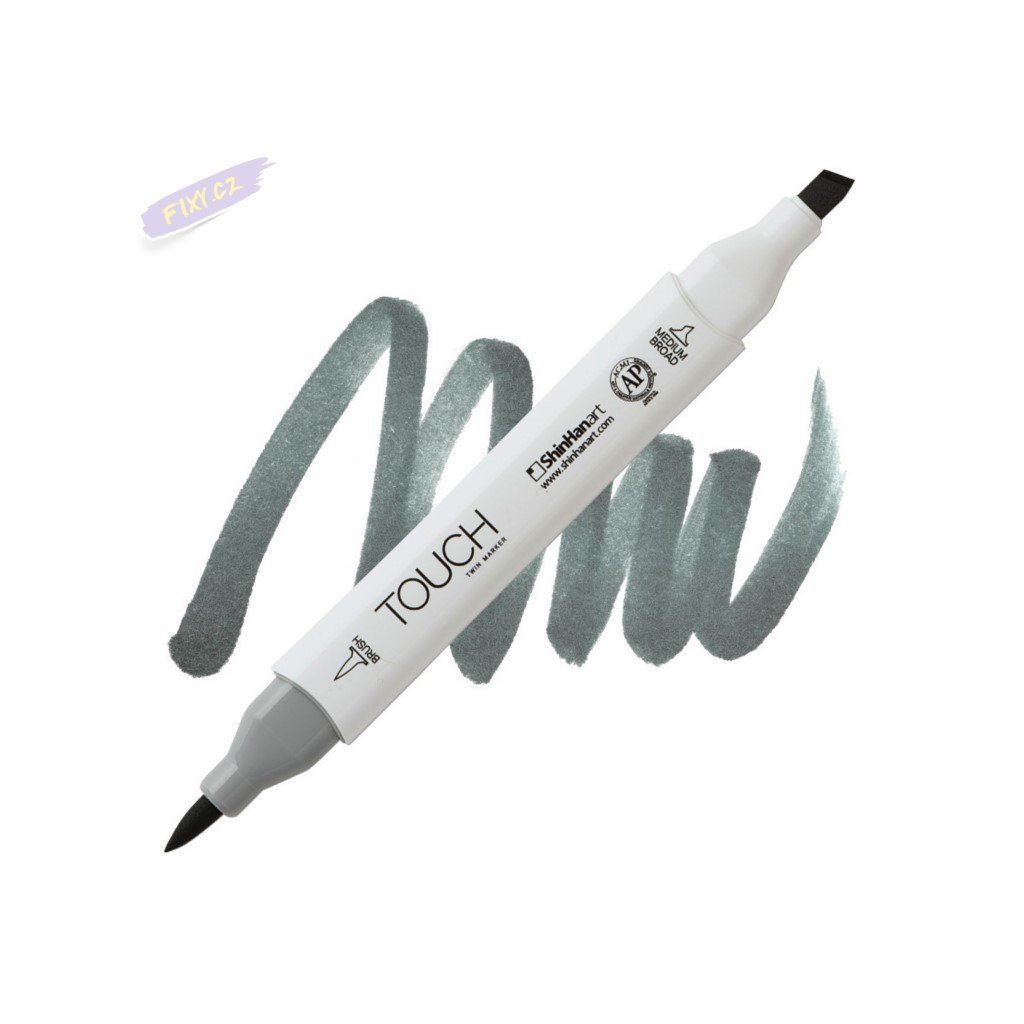 2457 2 gg7 green grey touch twin brush marker