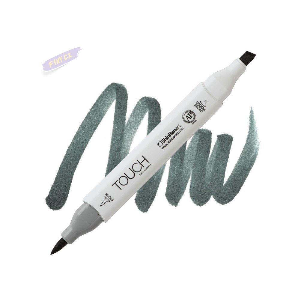 2460 2 gg9 green grey touch twin brush marker