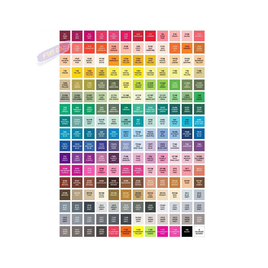 2712 3 touch twin brush marker 6ks zakladni