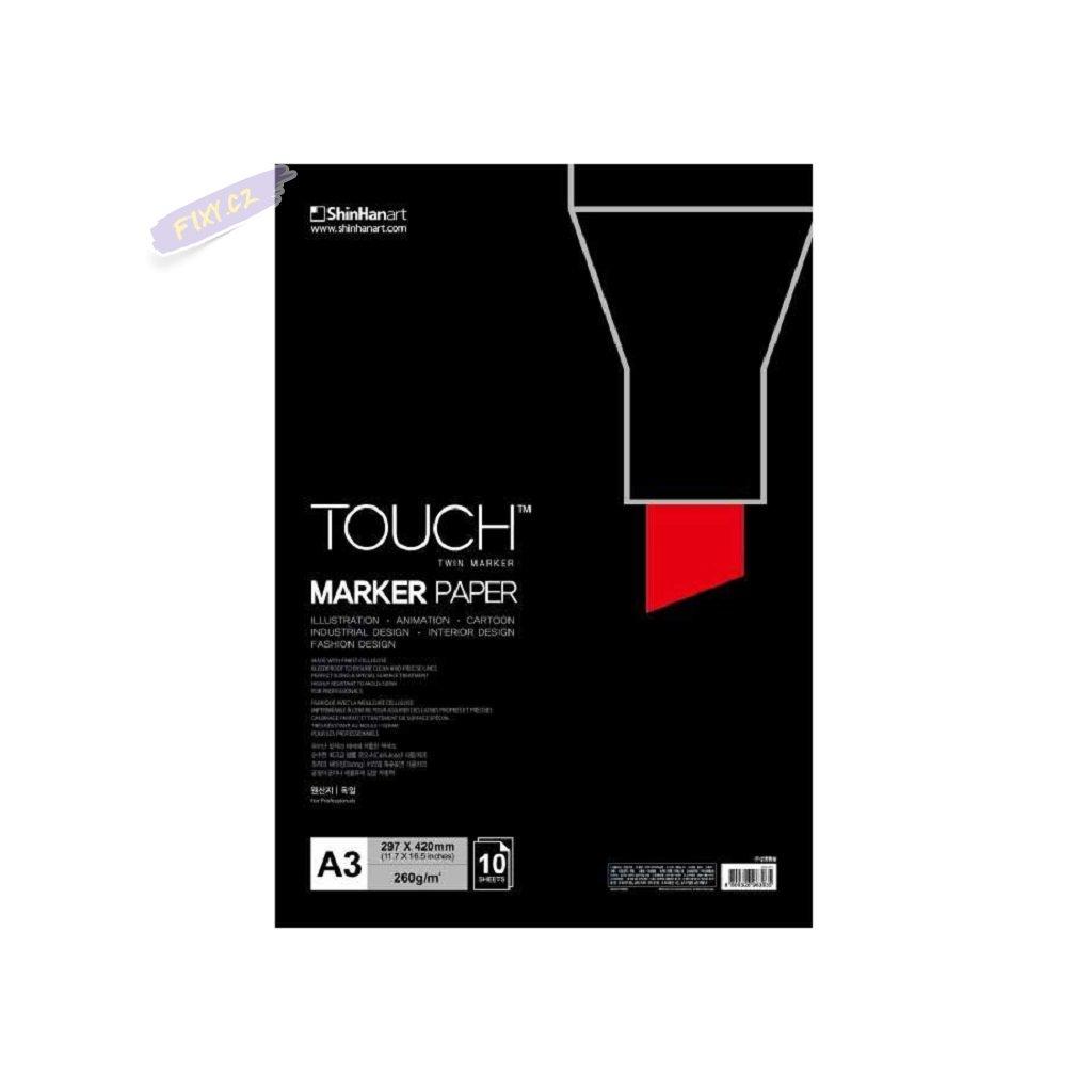 2802 1 blok a3 touch marker paper 10 listu