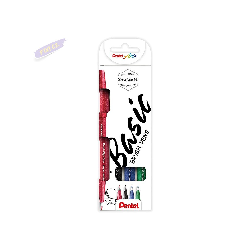 927 1 pentel touch brush sign pen 4ks zakladni