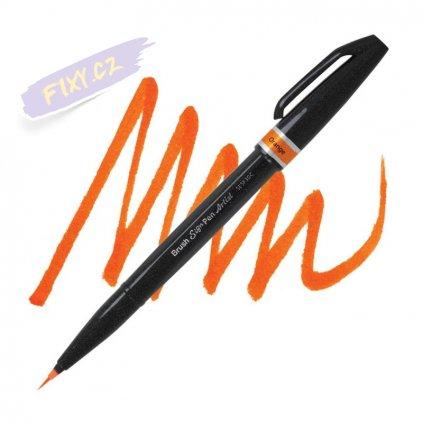 1041 5 pentel touch brush sign pen artist oranzovy