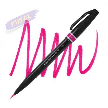 1047 5 pentel touch brush sign pen artist ruzovy
