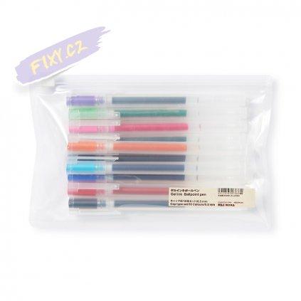 11184 3 0 5mm muji pero gelove 9ks barevna sada
