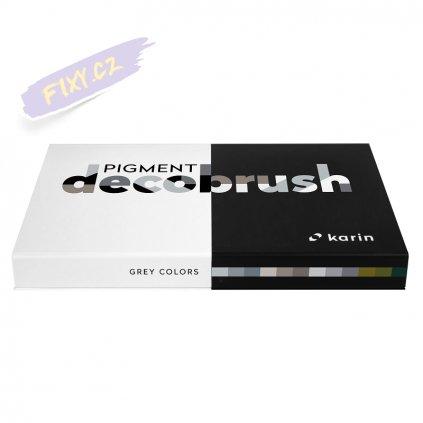 11688 2 karin decobrush pigment 12ks grey colors