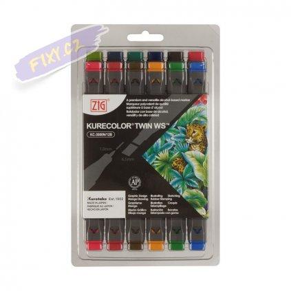 12225 2 kuretake zig kurecolor twin 12ks deep colors