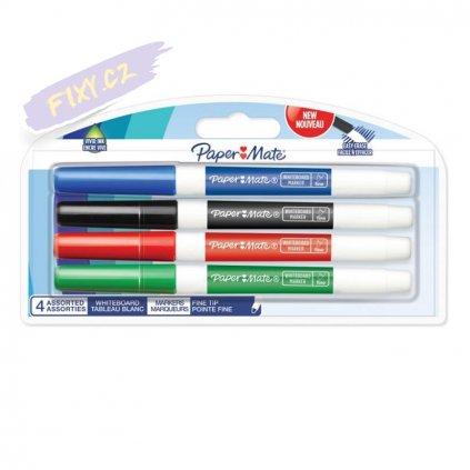 1266 2 paper mate na tabule whiteboard tenky 4ks barevne